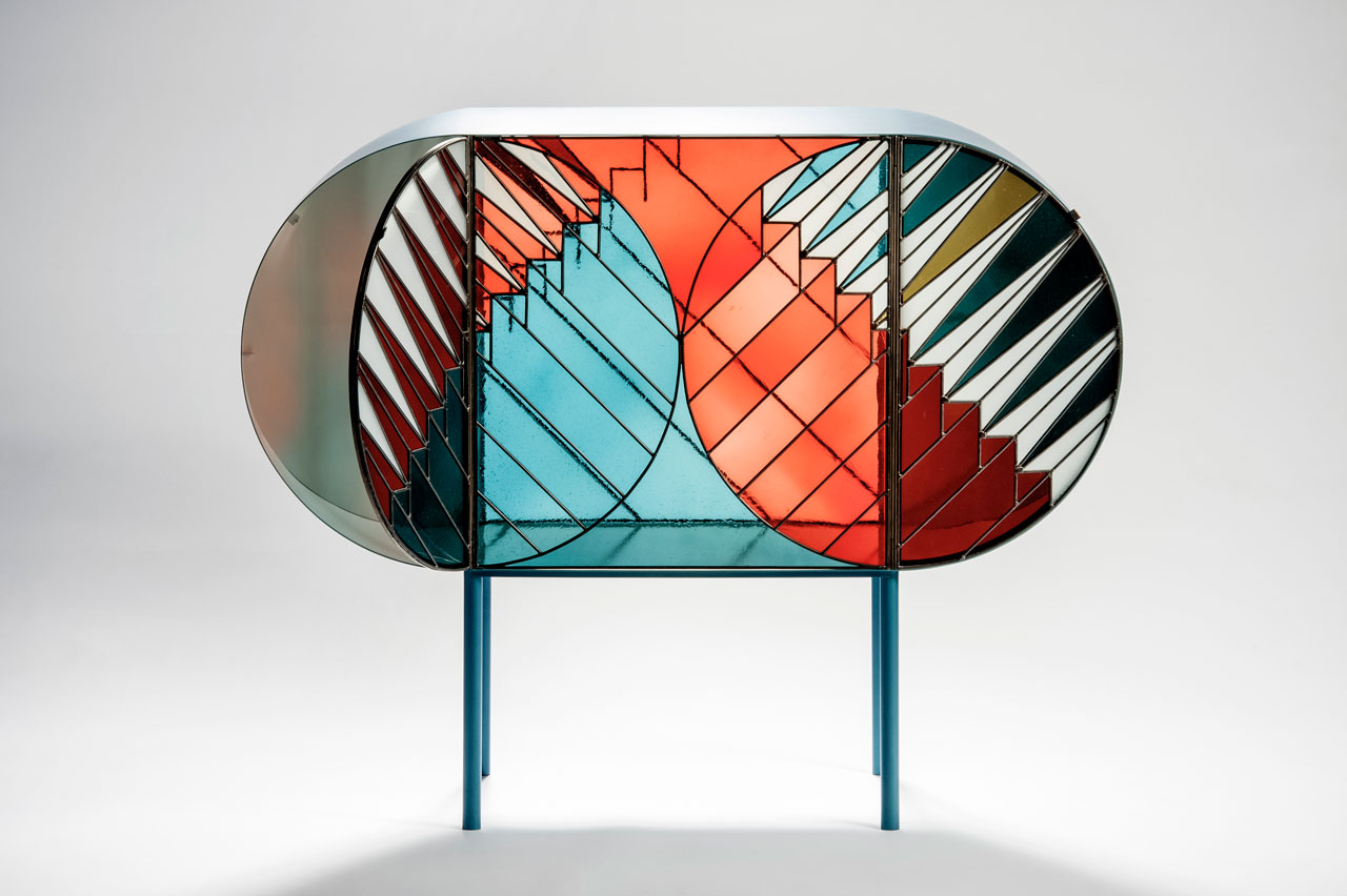 Spazio Pontaccio39s Stained Glass Furniture Design Milk
