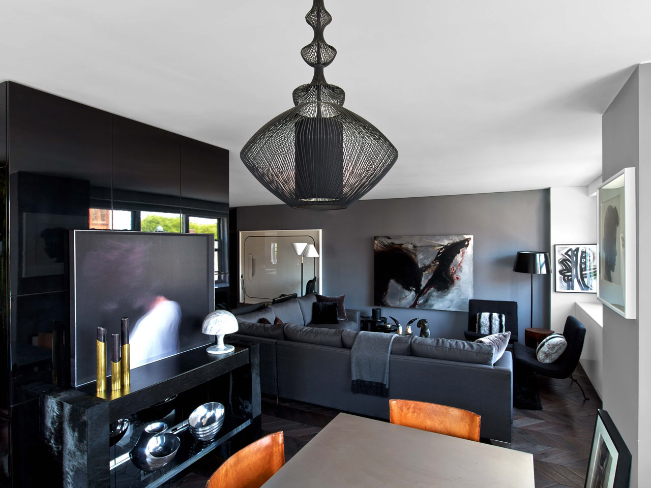 Nyc apartment inspired by tom ford and halston design milk for Nyc apartment design