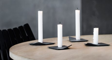A Candleholder Inspired by Ice in the Arctic Sea