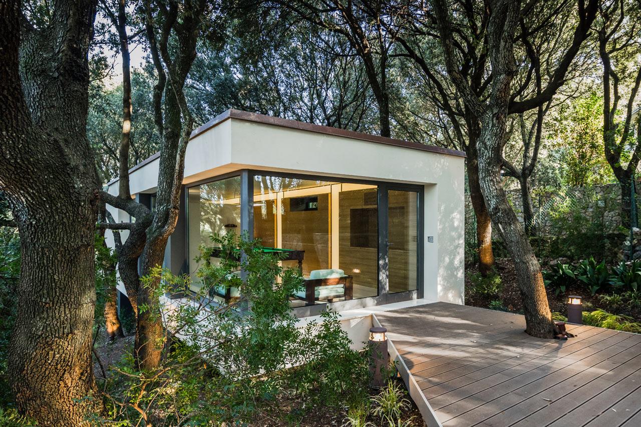 a house in the woods of sassari italy design milk