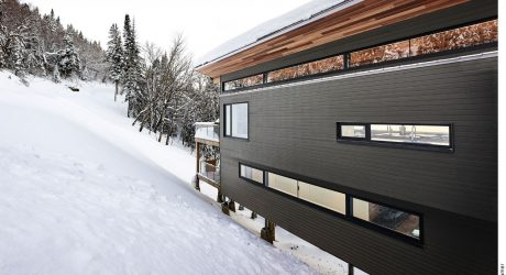 A Modern Ski Chalet Surrounded by the Forest