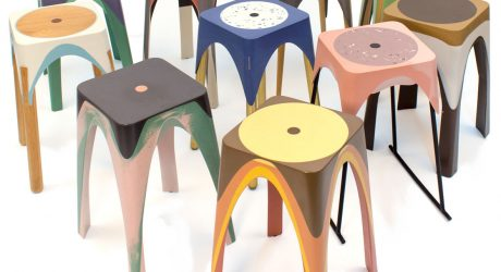 Resin Stools Created With the Help of Motion