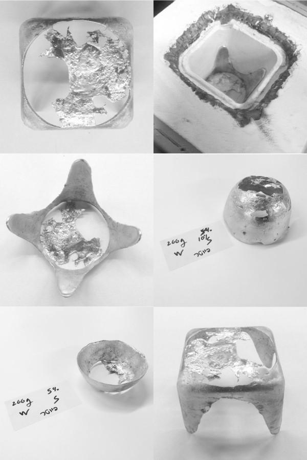 Pewter casting in centrifuge