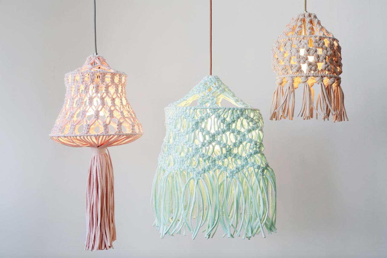 Plumen X Wool And The Gang Macrame Lamp Design Milk