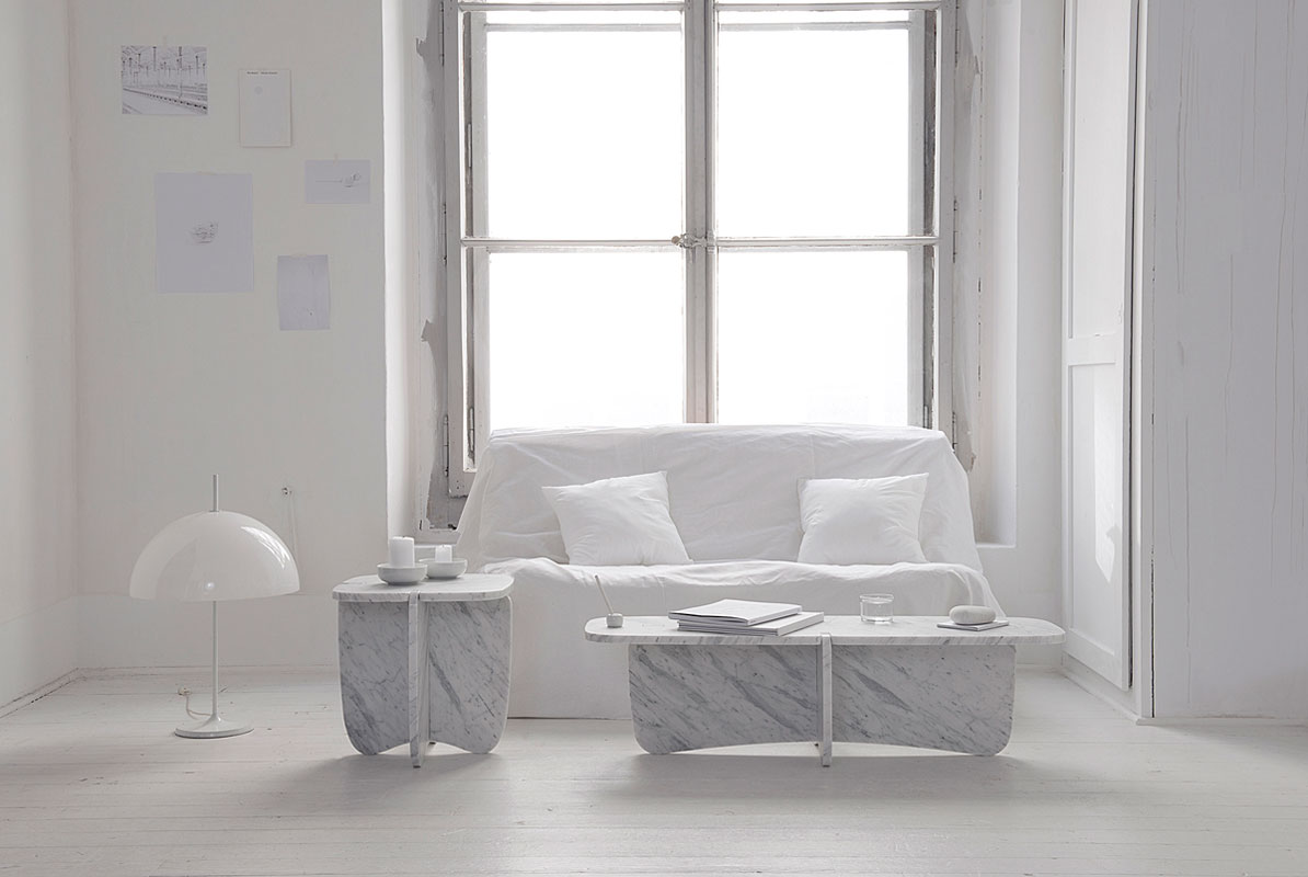 e0f56e0ff2 Marble Tables That Fit Together Without Hardware - Design Milk
