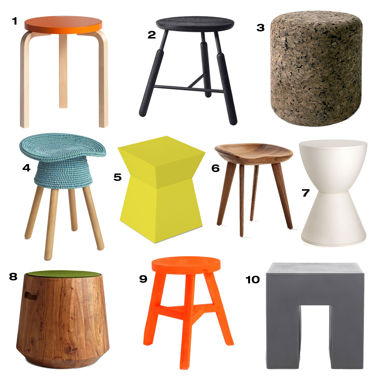 modern stools  design milk -  modern stools