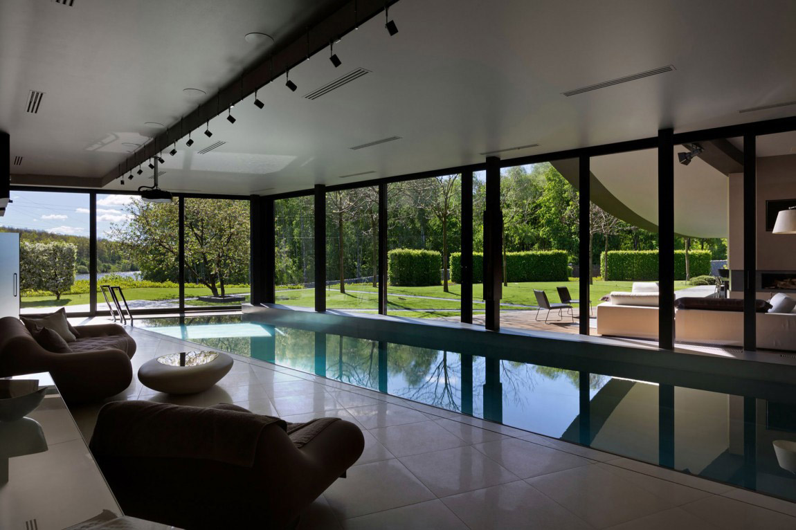 10 indoor pools with incredible views design milk for Interior pool