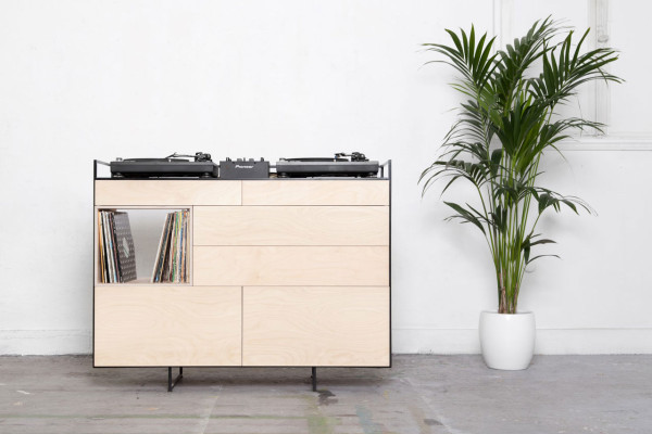 A Cabinet to Hold 2 Turntables (& a Microphone) + Your Vinyl