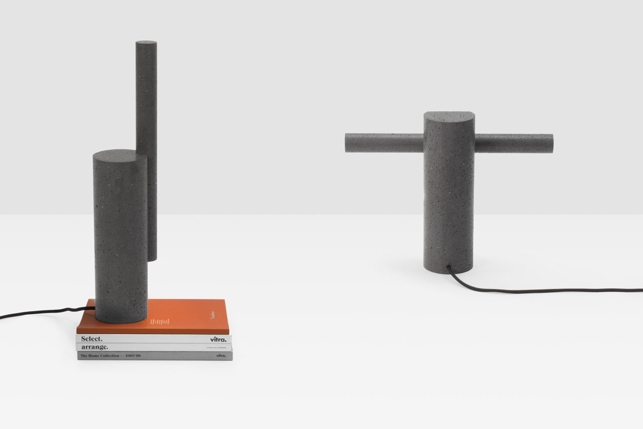Drill: Lamps Made of Volcanic Stone