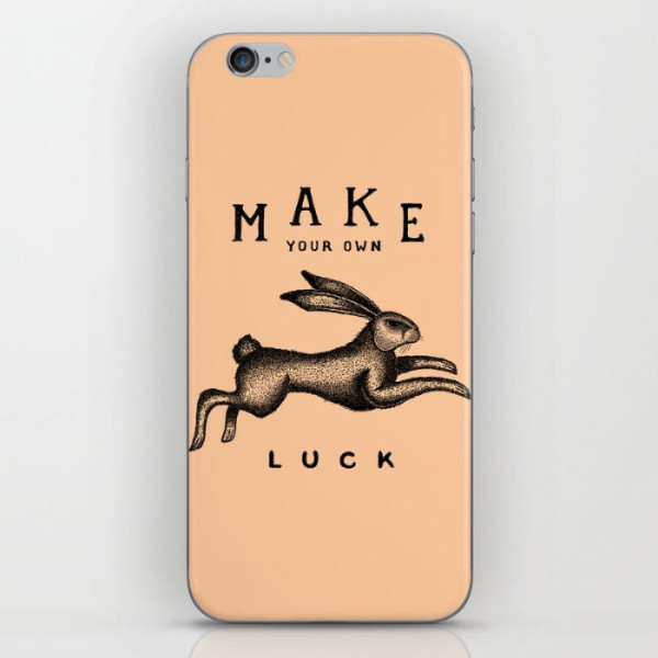 make-your-own-luck-coral-phone-skins