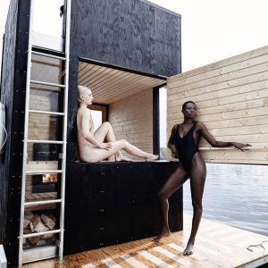 A Motor-Powered Floating Sauna by goCstudio