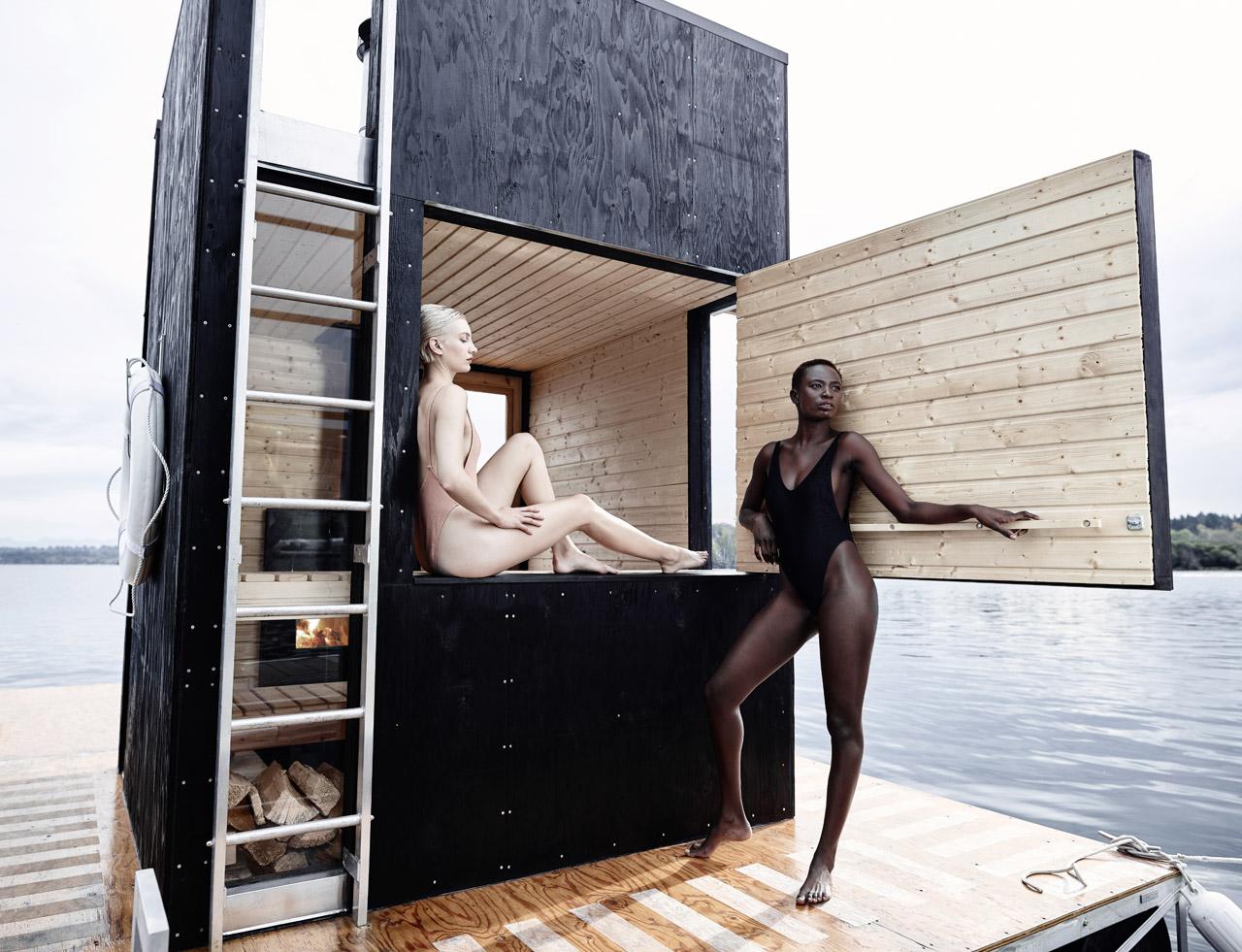 A Motor-Powered Floating Sauna by goCstudio