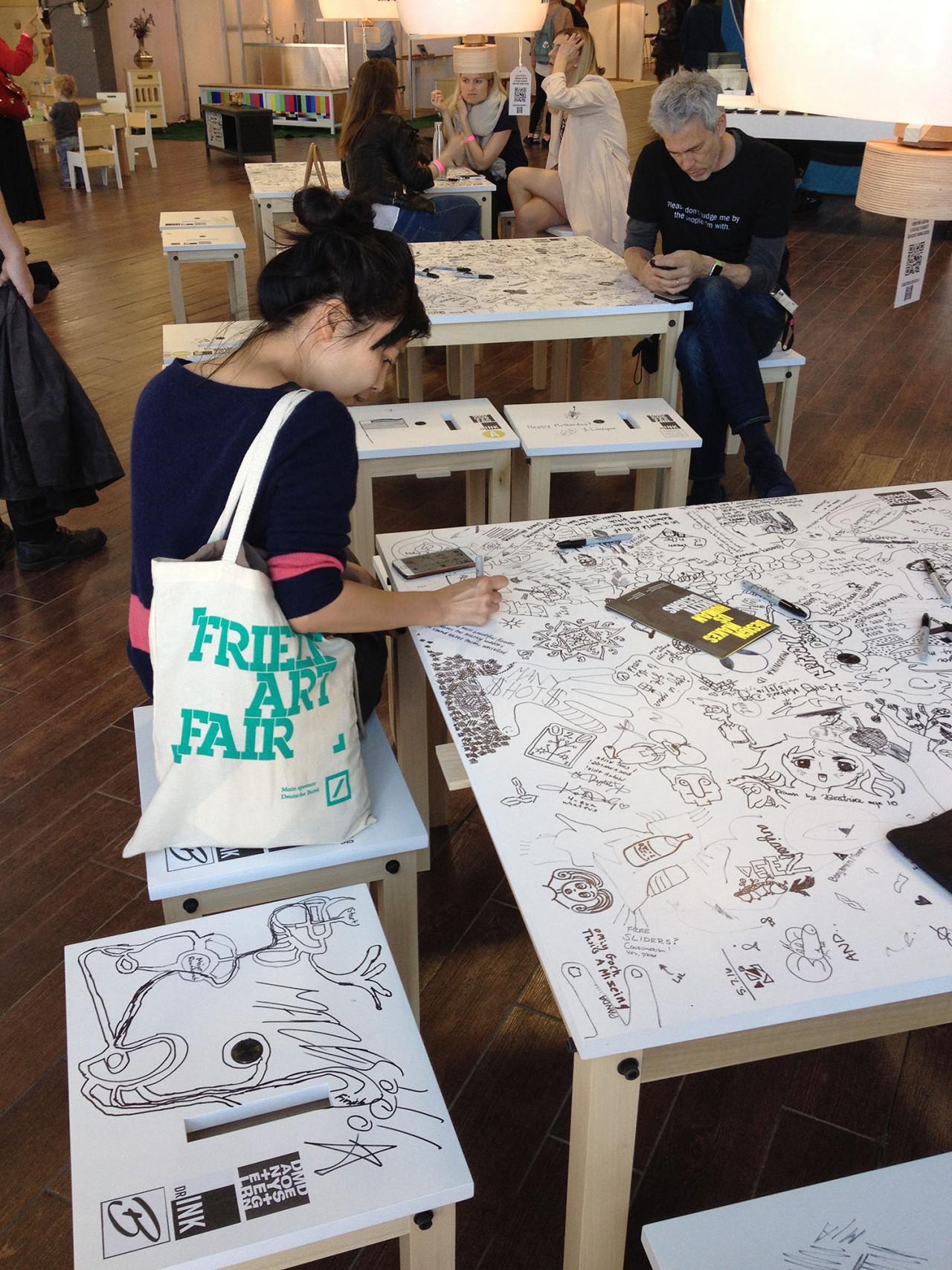 danielmoyerdesign Encourages Drawing on Furniture