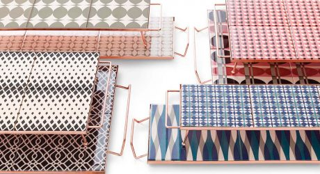 Handcrafted Geometric Trays by Flavia Del Pra for GAN