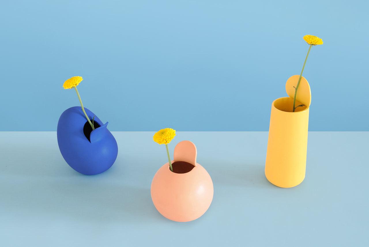 Peeled Fruits & Vegetables Reimagined as Vases