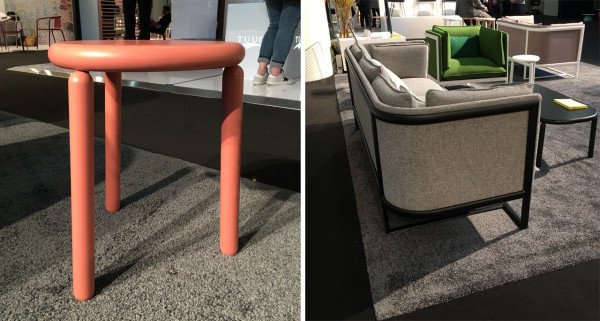 Left: Drift Low Stool \\\ Right: Perimeter Sofa