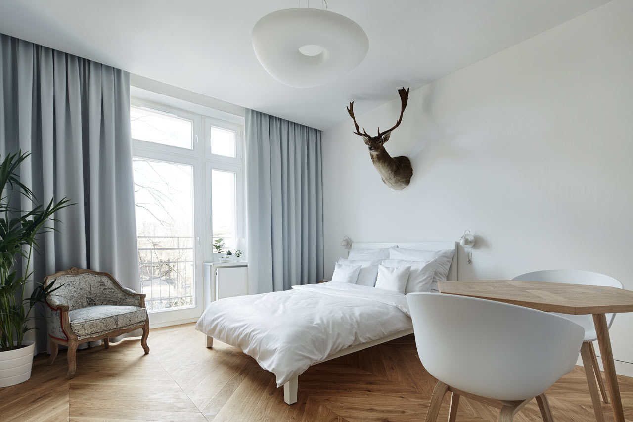 A minimalist studio apartment in krakow design milk for Minimalist apartment design