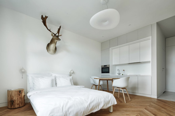 A Minimalist Studio Apartment in Krakow - Design Milk