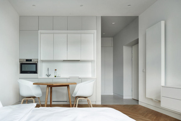 Minimalist Studio a minimalist studio apartment in krakow - design milk