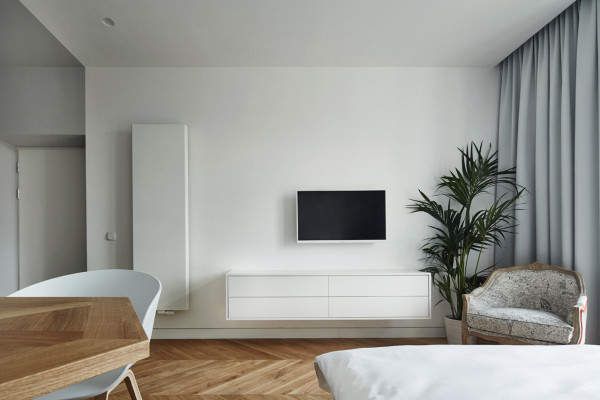 Studio Apartment Minimalist a minimalist studio apartment in krakow - design milk
