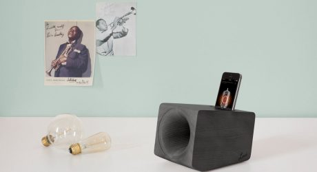 A Wooden Speaker that Mimics the Sound of Vinyl