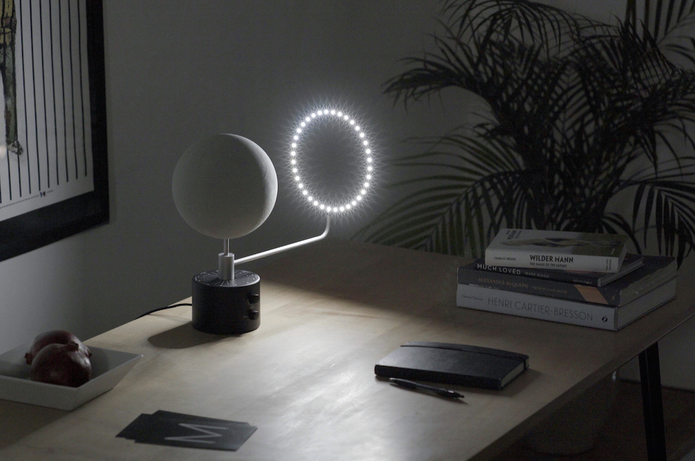 Moon a lunar light based upon nasa data design milk for Mood light designs
