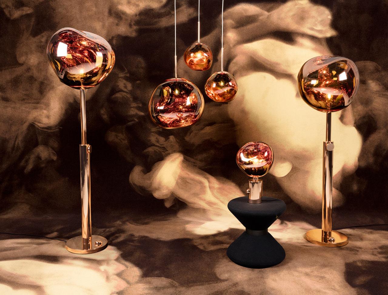 tom dixon 2016 10 melt copper family drum stool design milk. Black Bedroom Furniture Sets. Home Design Ideas