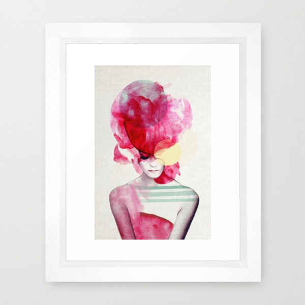 bright-pink-framed-print