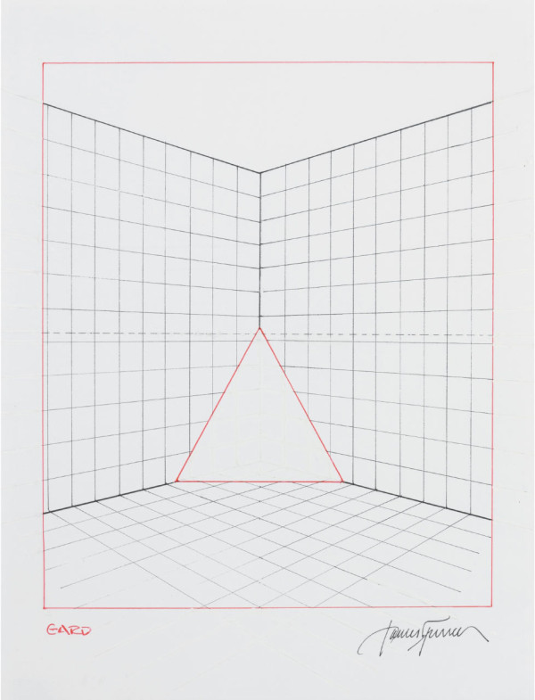 James Turrell, Gard from Projection Piece Drawings, 1970-1971