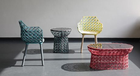 Furniture Made with Wrapped Yarn and Resin
