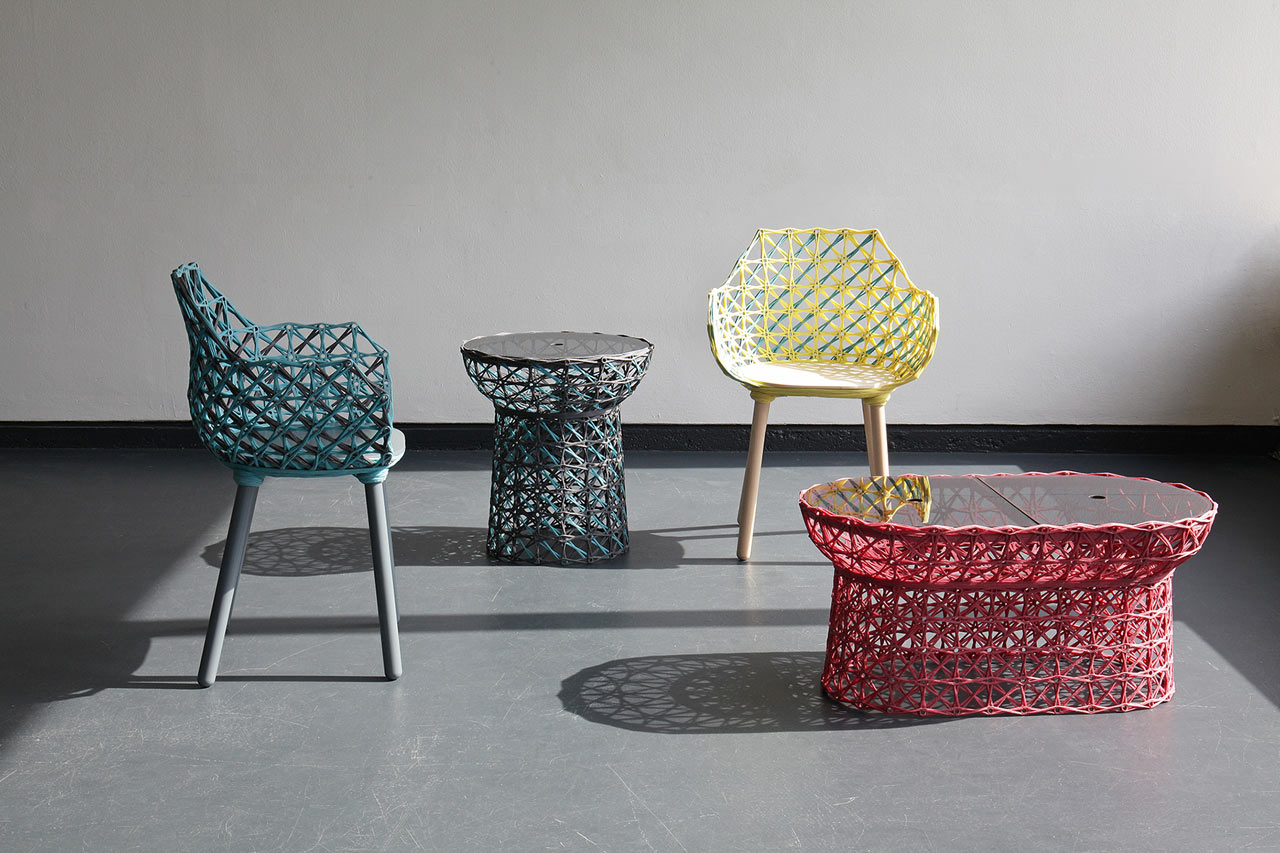 Marvelous Furniture Made With Wrapped Yarn And Resin ...