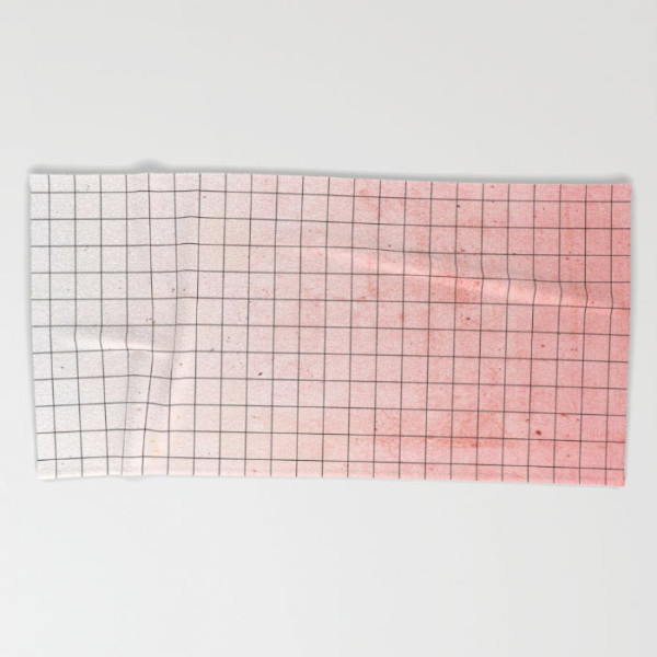 sweet-pink-geometry-beach-towel