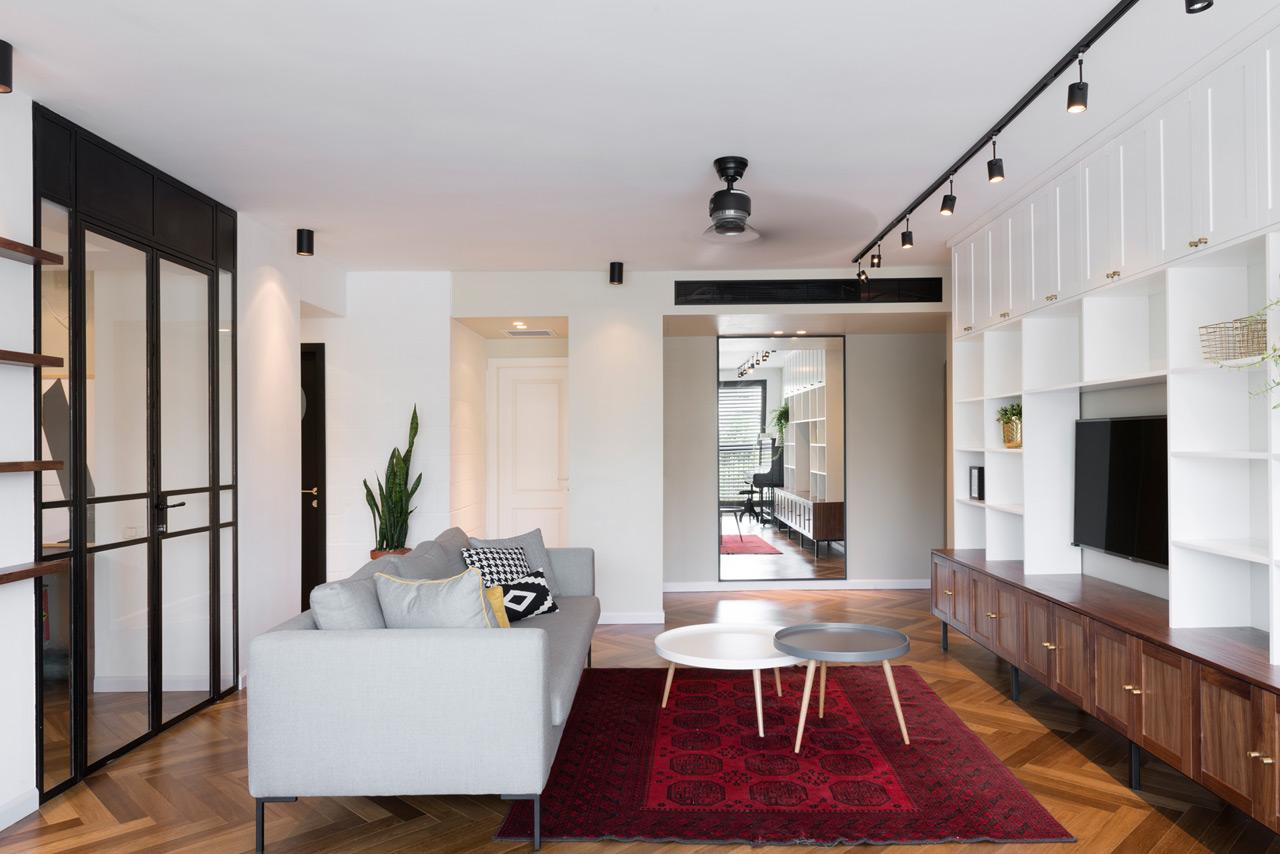 a bauhaus apartment in tel aviv by raanan stern design milk bloglovin. Black Bedroom Furniture Sets. Home Design Ideas