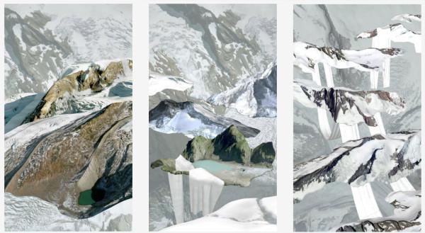 Three works by artist Evander Batson.