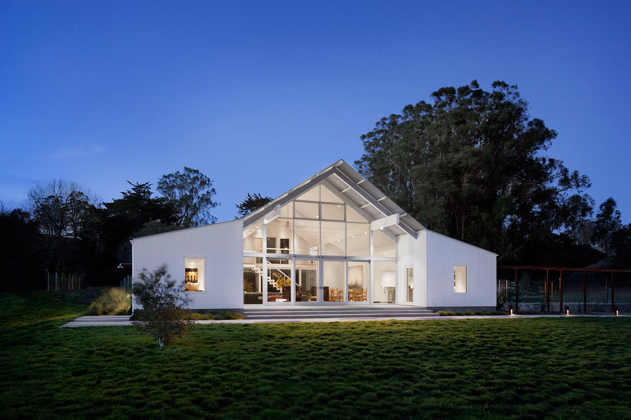 A certified leed platinum barn house design milk for Barn architecture plans