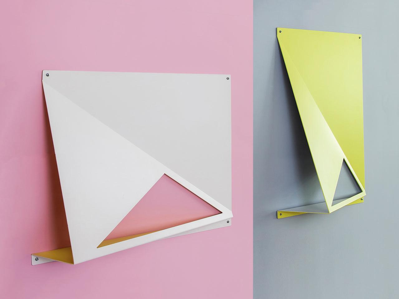 Mounted Shelves that Explore Geometry