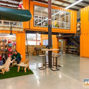 A Dog-Friendly Office Designed with Shipping Containers