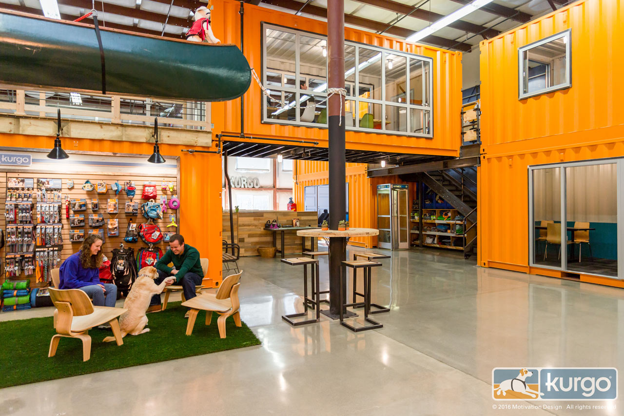 A dog friendly office with shipping containers design milk - Container store home office ...