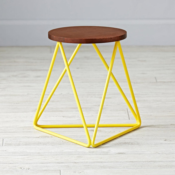 Land-of-Nod-4-linear-stool-yellow