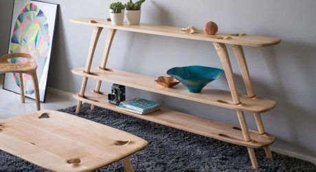 A Shelving System That Goes Together Without Hardware