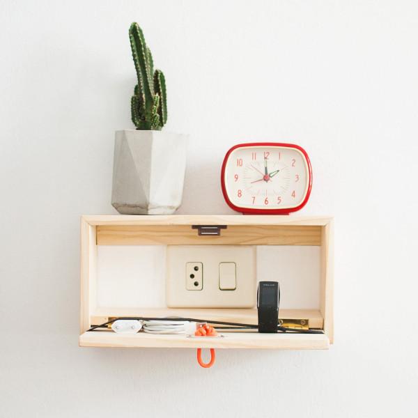Floating Shelf That 39 S Also A Charging Station Design Milk