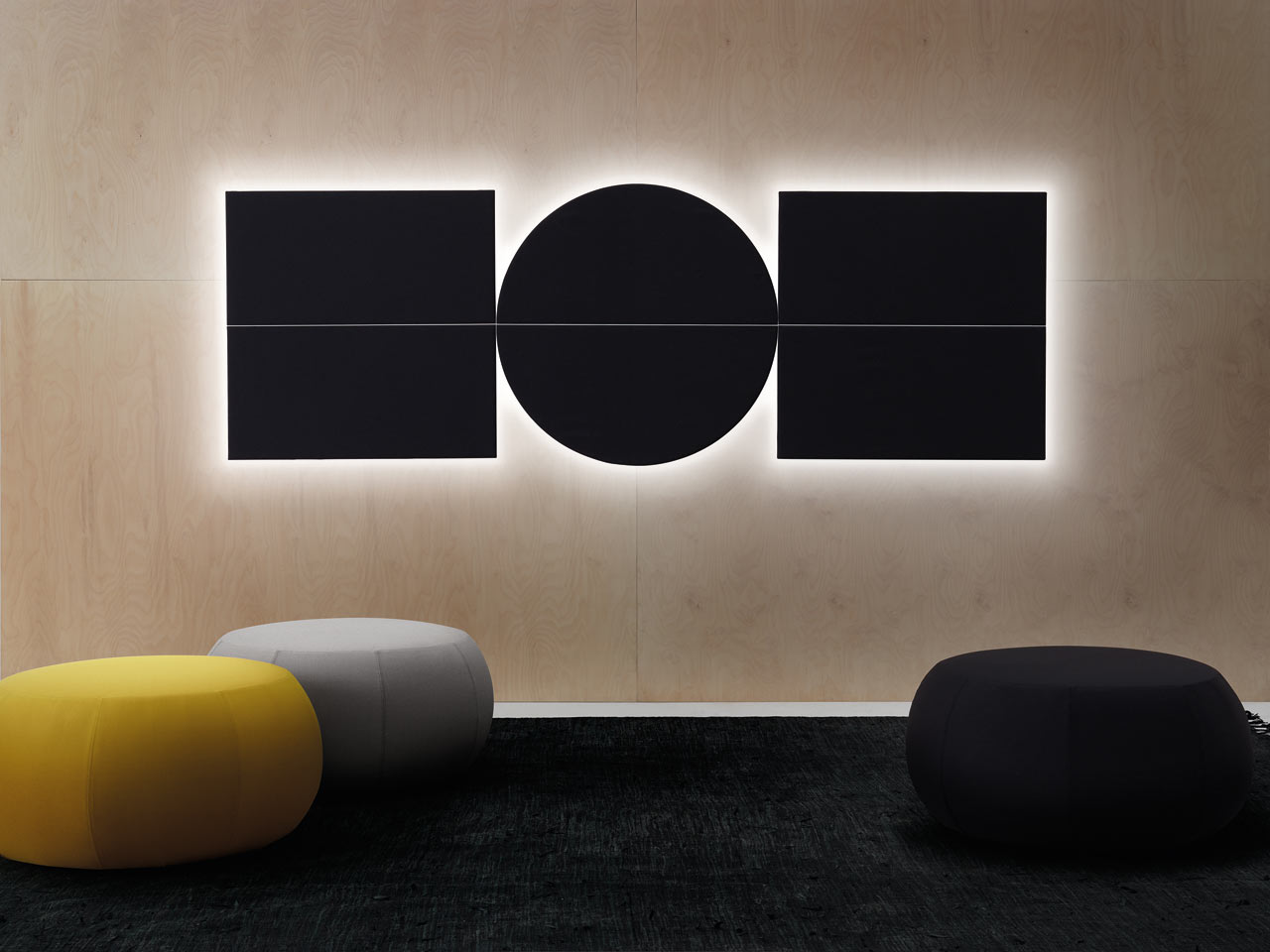 Geometric acoustic wall panels by arper design milk - Decorative acoustic wall panels ...