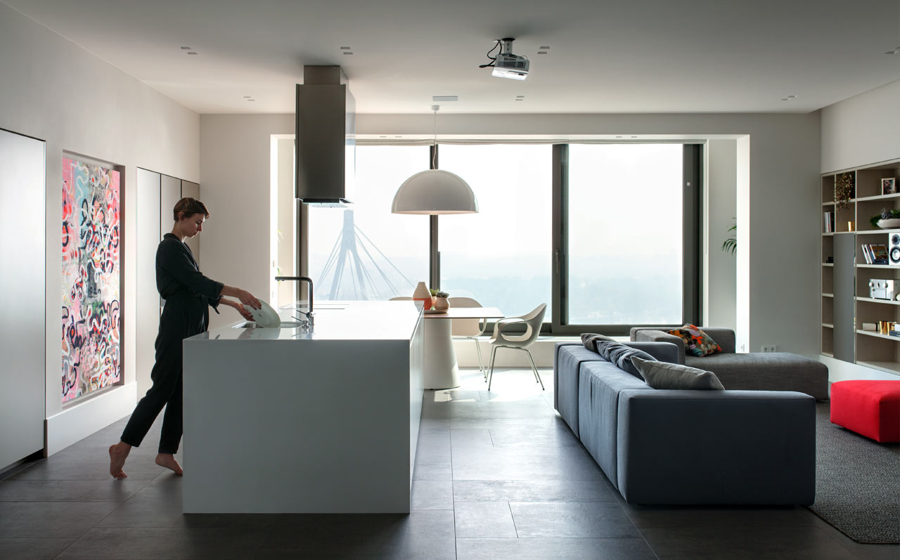 A Kiev Apartment Overlooking the Dnieper River