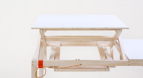 A Height-Adjustable Working Table by Sebastian Zachl
