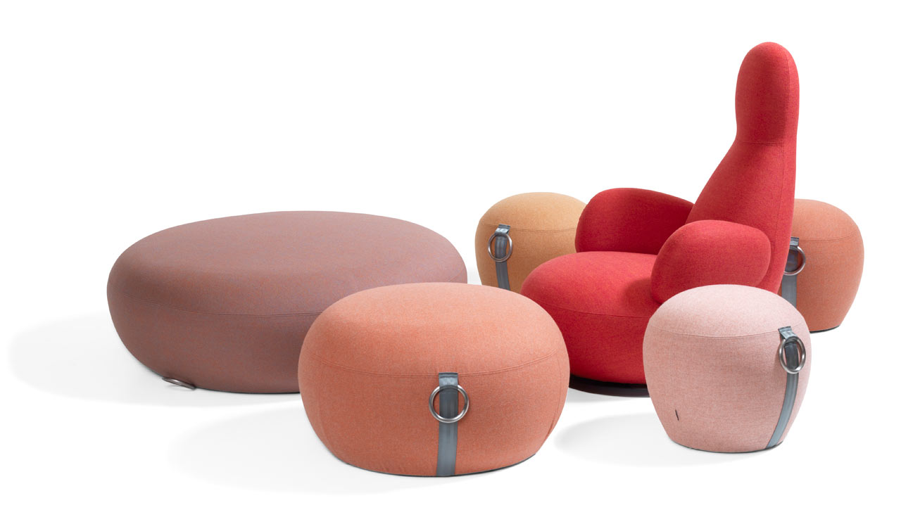 Playful Poufs by Stefan Borselius for Blå Station