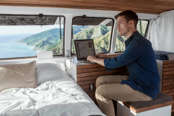 A Used Cargo Van Becomes a Mobile Studio