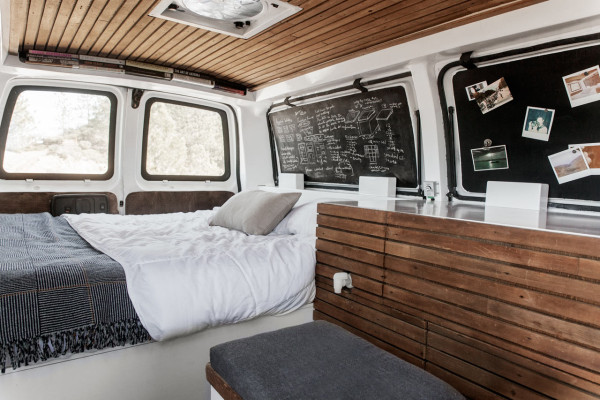 a used cargo van becomes a mobile studio design milk rh design milk com custom van interior design van interior design software