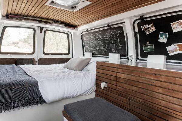a used cargo van becomes a mobile studio design milk. Black Bedroom Furniture Sets. Home Design Ideas