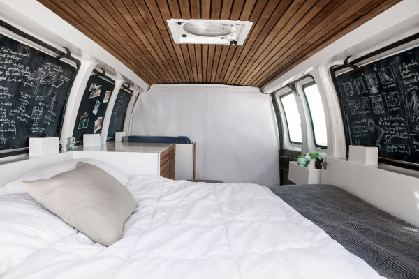 a used cargo van becomes a mobile studio design milk rh design milk com custom van interior design kombi van interior designs