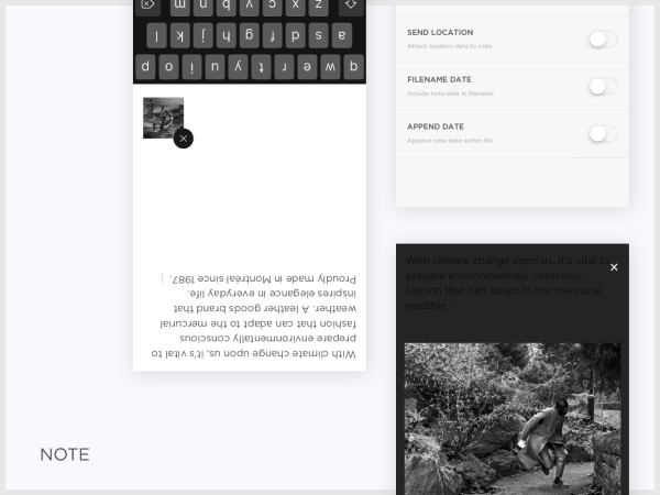 Squarespace Note - Mobile App